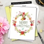 Creative Christmas Jumbo Printed Greeting Card from NobleWorksCards.com - Watercolor Wreaths image 6