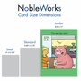 Humorous Congratulations Jumbo Paper Card By Nate Fakes From NobleWorksCards.com - When Pigs Fly image 5