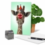 Beautiful Birthday Printed Card From NobleWorksCards.com - Wild Kisses - Giraffe image 5