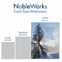 Stylish Get Well Jumbo Paper Greeting Card From NobleWorksCards.com - Winter Sunrise - Isaiah 58:8 image 4