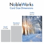 Creative Congratulations Jumbo Printed Card From NobleWorksCards.com - Winter Sunrise - Isaiah 60:1 image 4