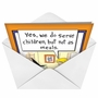 Hilarious Halloween Printed Greeting Card by Martin Bucella from NobleWorksCards.com - Witch Kids Meals image 2