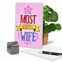 Hilarious Birthday Printed Card From NobleWorksCards.com - Wonderful Wife image 5