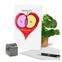 Funny Valentine's Day Paper Card From NobleWorksCards.com - You Me Chart image 6