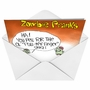 Funny Halloween Paper Card by Gary McCoy from NobleWorksCards.com - Zombie Pull My Finger image 2
