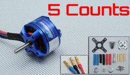 5 Pieces of Exceed RC Rocket 3010-1700KV Brushless Motor for RC Airplane Planes