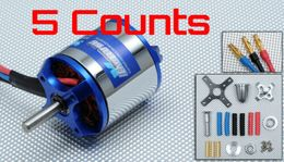 5 Pieces of Exceed RC Rocket Brushless Out Runner Motor for Airplane (950KV)