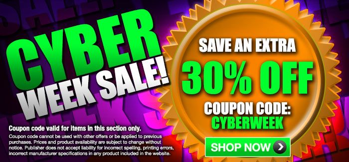 "Cyber Week Sales - Extra 30% OFF with Coupon Code ""CYBERWEEK""  (Items in This Section Only)"