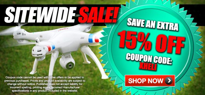 "Site Wide Sales - Extra 15% OFF Everything with Coupon Code ""XHELI"""
