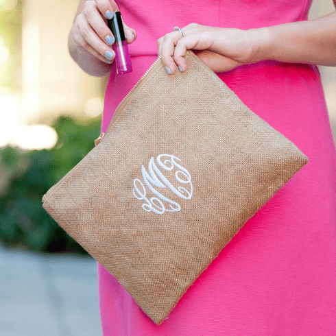 Burlap Zip Pouch - Temporarily Out of Stock
