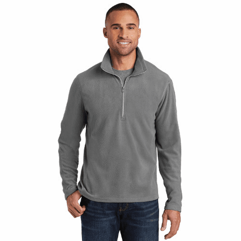 F224 Port Authority Men's Microfleece 1/2 Zip Pullover with STMS LC Logo (2X-4X)