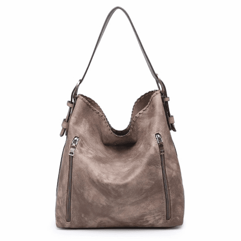 Jen & Co. Distressed Hobo Concealed Carry Purse