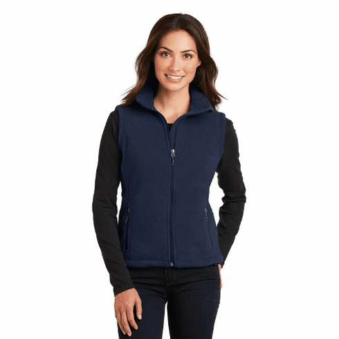 L219 Port Authority Ladies Fleece Vest with STMS LC Logo (2X-4X)