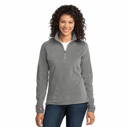 L224 Ladies Port Authority Microfleece 1/2 Zip Pullover with STMS LC Logo