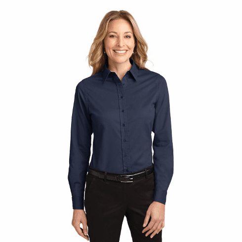 L608 Port Authority Ladies Long Sleeve Easy Care Shirt with STMS LC Logo