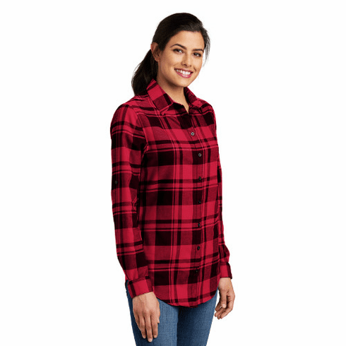 Ladies Flannel Tunic with Monogram - Assorted Colors