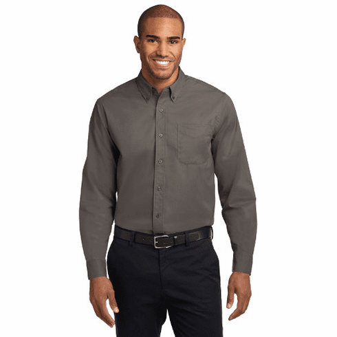 S608 Port Authority Long Sleeve Men's Easy Care Shirt with STMS LC Logo (2X-4X)