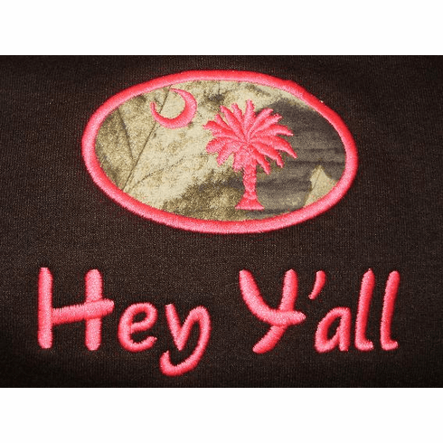 SC Hey Y'all  Camo Applique Sweatshirt  (S-XL)