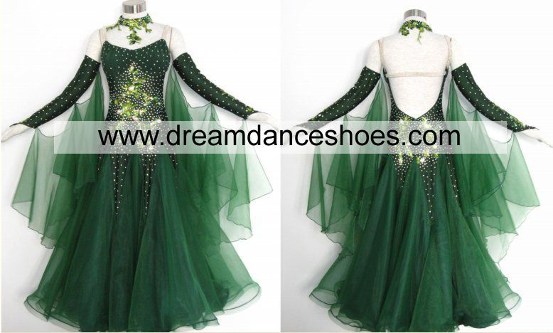 Sparkle Green Ballroom Smooth Gown B738