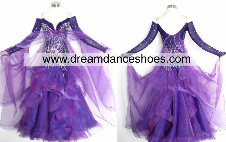 Sparkle Purple Ballroom Smooth Gown B739