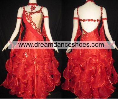 Red Ballroom Gowns B763