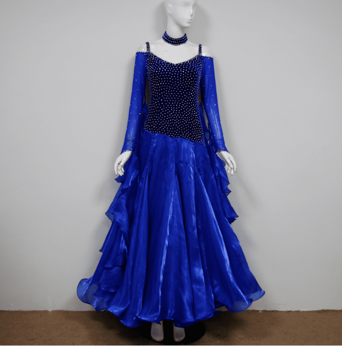 Blue dance dresses for modern B2417