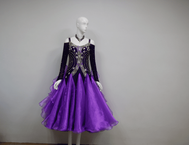 Purple Smooth Competition Dress B2418