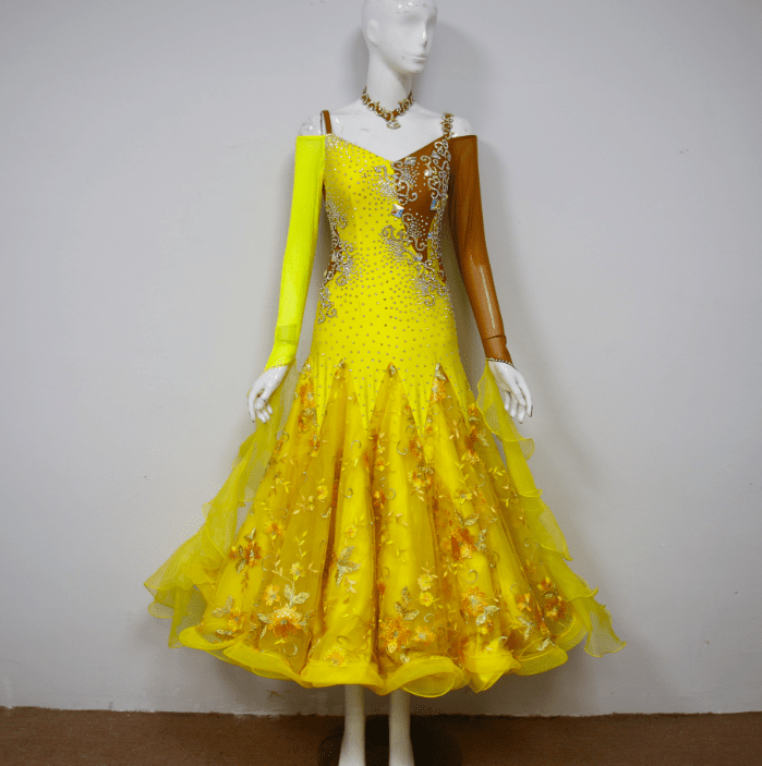 Yellow Ballroom Dresses for Sale B2429
