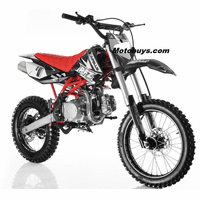 "Apollo DB-X18 Ultra-Elite 125cc Pit / Dirt Motorcycle. -Twin-Spar Tubular Frame (Compare to Honda) -Upgraded Rear Swing-Arm - 17"" Front Wheel - Inverted Forks -"