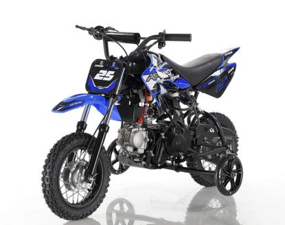 APOLLO DB25 70cc  Pit/Dirt Bike Fully Automatic.  Comes with Training Wheels