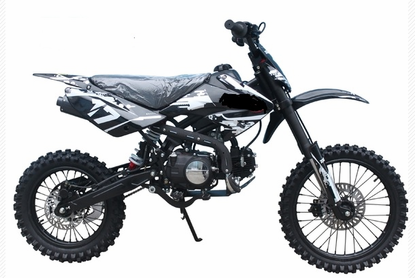 """Jet Moto XR-17 - 125cc Deluxe Dirt / Pit Bike with Extra Large 17"""" Wheel -"""