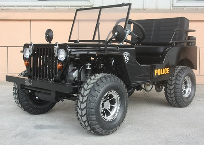 Mini Jeep Police Graphics Model Off Road 125cc