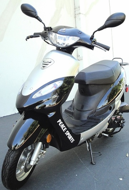 Peace Sports Moped 50cc Motor Scooter Nero