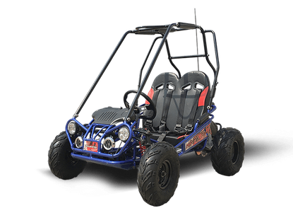 Trailmaster NEW Ultra Mini RS-R Go Kart with Reverse - Wider Frame, Wider Seats, More Leg & Headroom, Much Taller Roll Cage, Bigger Tires!