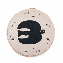 "16"" Dia. Rise & Shine Embroidery Hoop by Sugarboo Designs"
