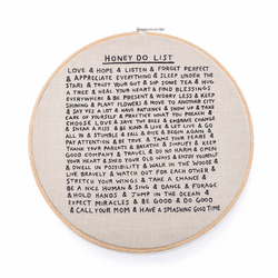"18"" Dia.Honey Do List Embroidery Hoop by Sugarboo Designs"
