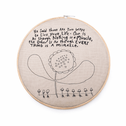 "18"" Dia.Two Ways to Live Embroidery Hoop by Sugarboo Designs"
