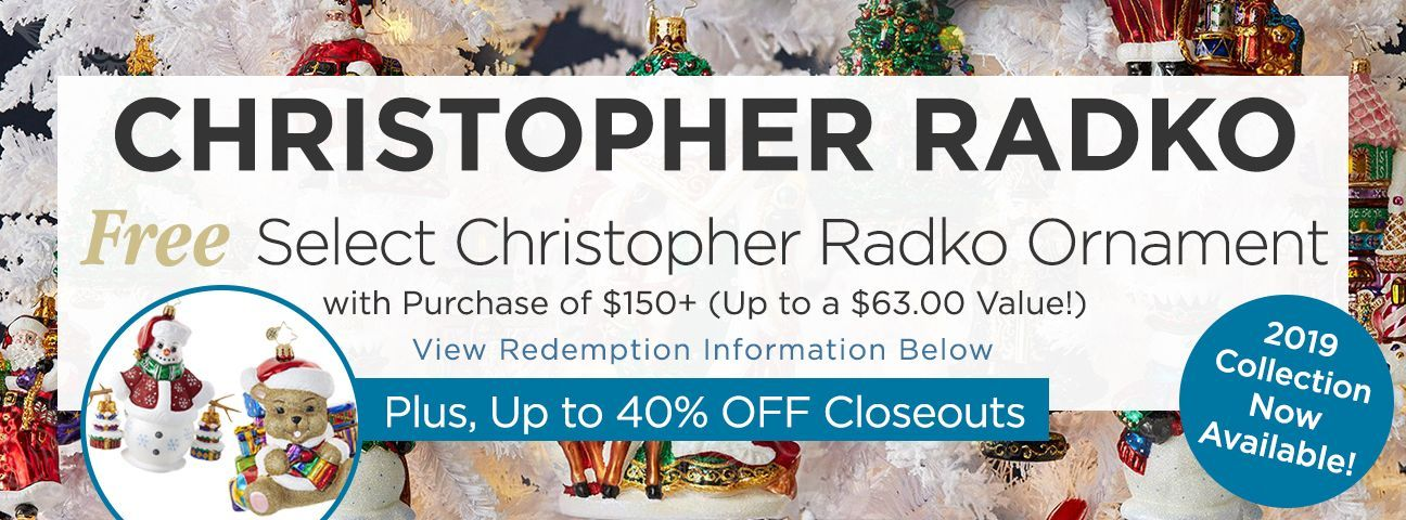 2019 Christopher Radko Ornaments Collection