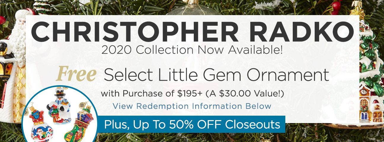 2020 Christopher Radko Ornaments Collection