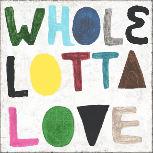 "24"" x 24"" Colorful Whole Lotta Love Art Print Gallery Wrap by Sugarboo Designs"