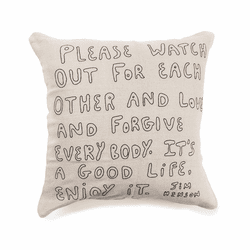 "24"" x 24"" Jim Henson Embroidered Pillow by Sugarboo Designs"