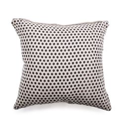 "24"" X 24"" Reversible Polka Dot Pillow in Stone Washed Linen by Sugarboo Designs"