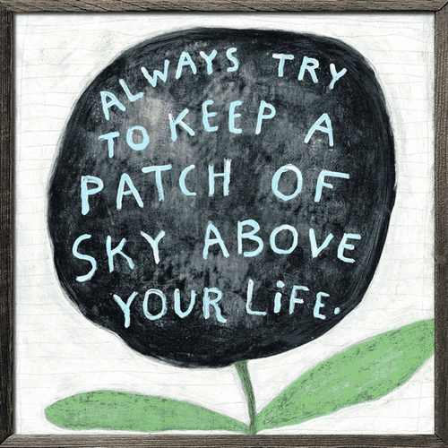 "36"" x 36"" Always Try to Keep Art Print with Grey Wood by Sugarboo Designs"