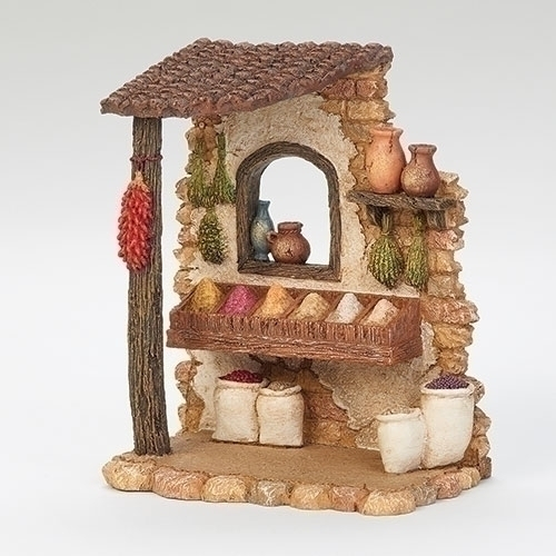 "6.5"" Spice Shop for 5"" Scale Figurines - Fontanini"