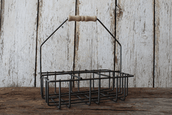 6 Cell Metal Milkbottle Holder by Milkhouse Candle Creamery