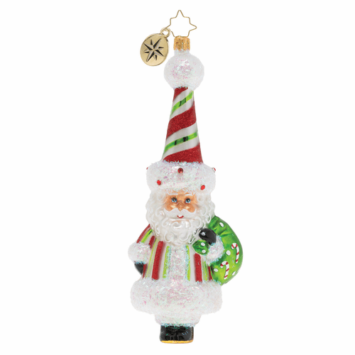 A Candy Cane Surprise! Ornament by Christopher Radko