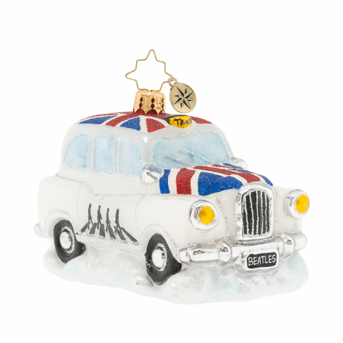 A Ride Down Abbey Road Cab Ornament by Christopher Radko - Special Order (Available January 2020)