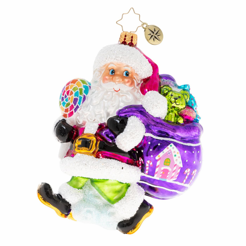 A Sugary Stroll Ornament by Christopher Radko