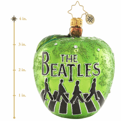 Abbey Road Apple Ornament by Christopher Radko