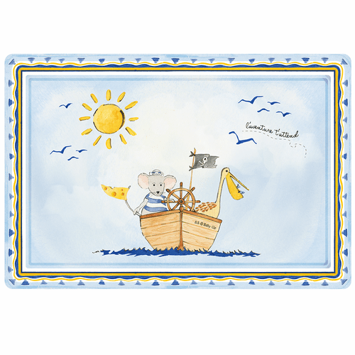"""Adventure Awaits Anti-Slip 17"""" x 11.5"""" Placemat by Baby Cie"""